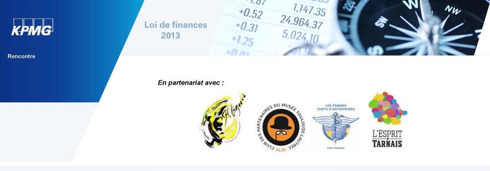Rencontre avec les spécialiste de KPMG autour des nouveautés de la Loi de Finances 2013